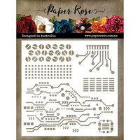 Paper Rose - 6 x 6 Stencil - Circuits