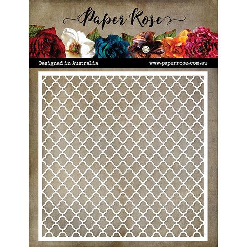 Paper Rose - 6 x 6 Stencil - Large Lattice
