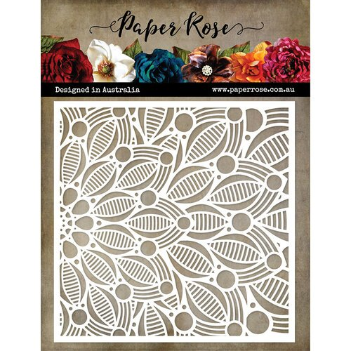 Paper Rose - 6 x 6 Stencil - Leaf Burst