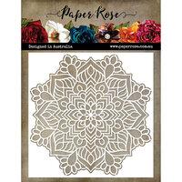 Paper Rose - 6 x 6 Stencil - Mandala 3