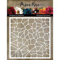 Paper Rose - 6 x 6 Stencil - Mosaic