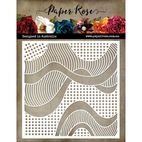 Paper Rose Patterned Waves Stencil