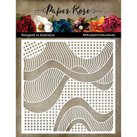 Paper Rose - 6 x 6 Stencil - Patterned Waves