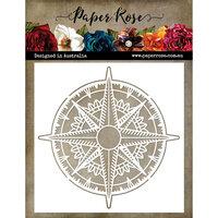 Paper Rose - 6 x 6 Stencil - Compass