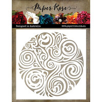 Paper Rose - 6 x 6 Stencil - Flourish Circle 2