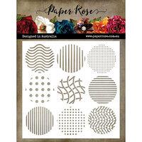 Paper Rose - 6 x 6 Stencil - Random Spots