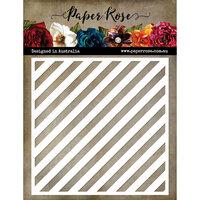 Paper Rose - 6 x 6 Stencil - Chunky Diagonal Stripe
