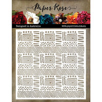 Paper Rose - 6 x 6 Stencil - Folksy Pattern 1