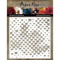 Paper Rose - 6 x 6 Stencil - Halftone Hearts