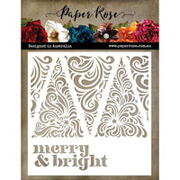 Paper Rose - 6 x 6 Stencil - Merry and Bright