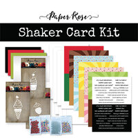 Paper Rose - Card Making Kit - Shaker