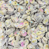Paper Rose - Sequins - Clear Iridescent - Solid White