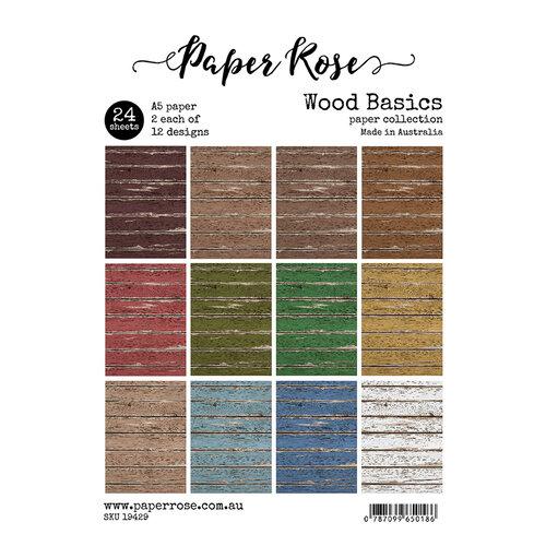 Paper Rose - A5 Paper Pack - Wood Basics