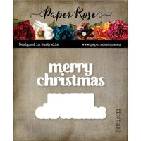Paper Rose - Dies - Merry Christmas Chunky