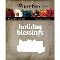 Paper Rose - Dies - Holiday Blessings Chunky