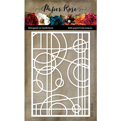Paper Rose - Dies - Abstract Stained Glass Frame