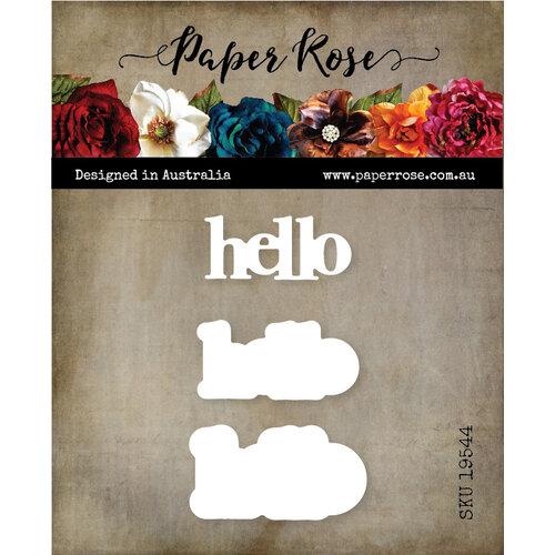 Paper Rose Hello Chunky die