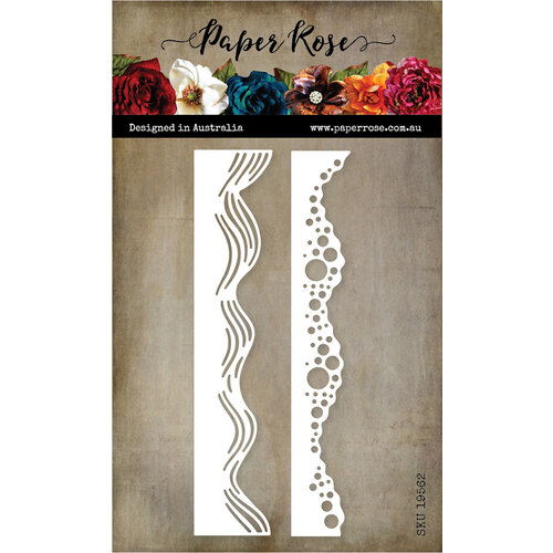 Paper Rose Wave Borders Metal die