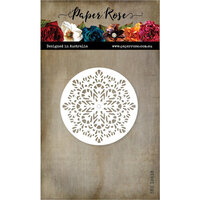 Paper Rose - Dies - Stained Glass Decorative Circle