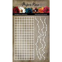 Paper Rose - Dies - Line Graph Texture