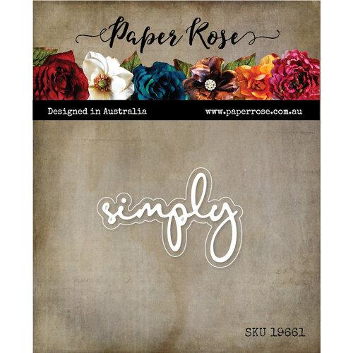 Paper Rose - Dies - Simply Fine Script