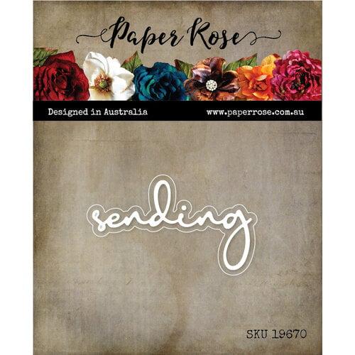 Paper Rose Sending Fine Script Die