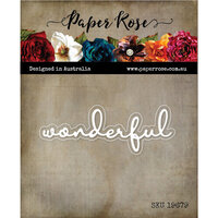 Paper Rose - Dies - Wonderful Fine Script