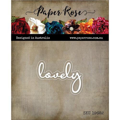 Paper Rose - Dies - Lovely Fine Script