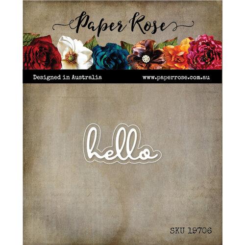Paper Rose Hello Fine Script die