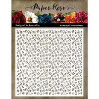 Paper Rose - 6 x 6 Stencil - Coffee Beans