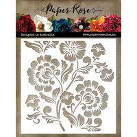 Paper Rose - 6 x 6 Stencil - Folk Flowers