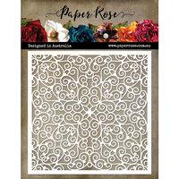 Paper Rose - 6 x 6 Stencil - Little Swirls