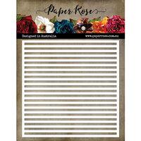 Paper Rose - 6 x 6 Stencil - Striped