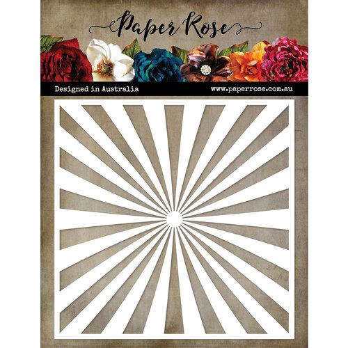 Paper Rose - 6 x 6 Stencil - Sun Burst