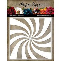 Paper Rose - 6 x 6 Stencil - Sun Swirl