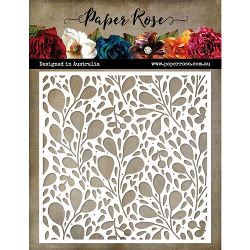 Paper Rose - 6 x 6 Stencil - Sweet Foliage