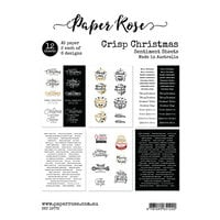 Paper Rose - A5 Paper Pack - Crisp Christmas Sentiment