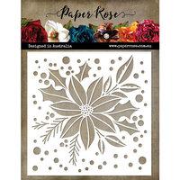 Paper Rose - Christmas - 6 x 6 Stencil - Poinsettia