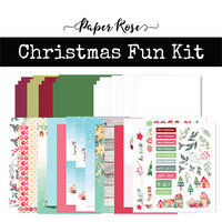 Paper Rose - Card Making Kit - Christmas Fun