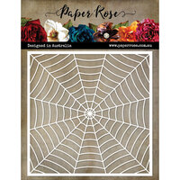 Paper Rose - 6 x 6 Stencil - Halloween - Cobweb