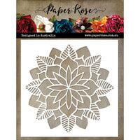 Paper Rose - 6 x 6 Stencil - Christmas - Poinsettia Mandala