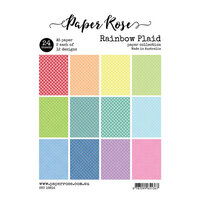 Paper Rose - A5 Paper Pack - Rainbow Plaid