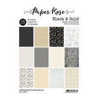 Paper Rose - A5 Paper Pack - Black and Gold