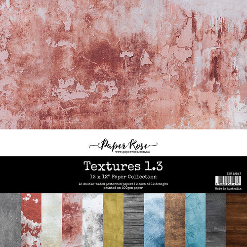 Paper Rose - 12 x 12 Collection Pack - Textures 1.3
