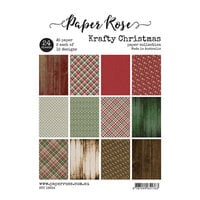 Paper Rose - A5 Paper Pack - Krafty Christmas