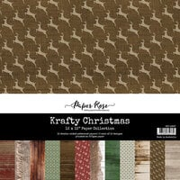 Paper Rose - 12 x 12 Collection Pack - Krafty Christmas