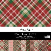Paper Rose - 12 x 12 Collection Pack - Christmas Plaid