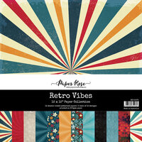 Paper Rose - 12 x 12 Collection Pack - Retro Vibes