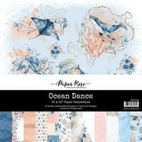 Paper Rose - 12 x 12 Collection Pack - Ocean Dance