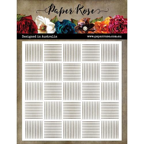 Paper Rose Basket Weave Stencil
